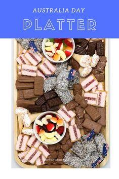 Australia Day Sweet Platter by Oh So Busy Mum. 2nd Birthday, Birthday Ideas, Birthday Parties, Australia Day Celebrations, Australian Desserts, Aus Day, Dessert Platter, Aussie Food, Party Mix