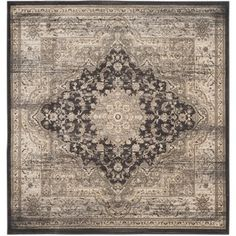 Safavieh Vintage Black/ Ivory Rug (6'7 Square) - Overstock™ Shopping - Great Deals on Safavieh Round/Oval/Square