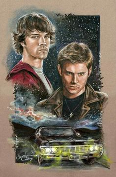 Sam and dean drawing
