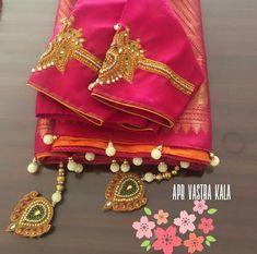 Saree Tassels Designs, Saree Kuchu Designs, Blouse Designs, Maggam Works, Designer Blouse Patterns, Saree Styles, Pattern Design, Designers, Collections