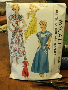 McCall 1596 Vintage Sewing Pattern 1950s by EleanorMeriwether, $22.00