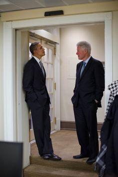 president obama and president clinton.