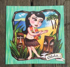 "Hübsche ""Aloha"" Postkarte von La Marelle - C/CL01"