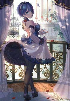 Hot Japan Anime Re: Zero Kara Hajimeru Isekai Seikatsu Rem Poster Wall Scroll D Anime Sexy, Anime Sensual, Art Anime, Anime Artwork, Manga Anime, Rem Re Zero, Zero Wallpaper, Heaven Wallpaper, Grimgar