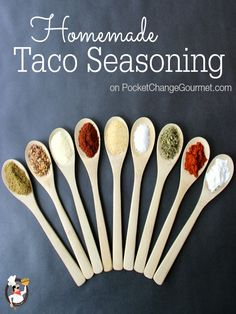 Homemade Taco Seasoning | Recipe on PocketChangeGourmet.com
