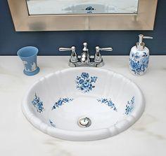 Rose Painted Porcelain Bathroom Sinks   Google Search   Sinks   Pinterest    Bathroom, Search And Bathroom Sinks