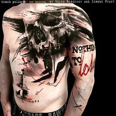 """2,445 Likes, 50 Comments - Buena Vista Tattoo Club (@buenavistatattooclub) on Instagram: """"Trash Polka Tattoo by Simone Pfaff & Volko Merschky #buenavistatattooclub #trashpolka…"""""""