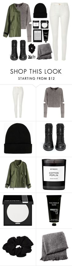 """""""D͟I͟S͟T͟A͟N͟C͟E͟"""" by i-smell-grunge ❤ liked on Polyvore featuring River Island, H&M, NLY Accessories, Ash, Chicwish, Byredo, MAKE UP FOR EVER, TokyoMilk and From the Road"""
