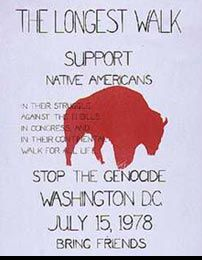 poster for The Longest Walk, 1978 - PBS Native Americans