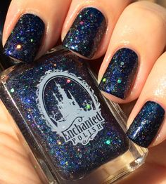 Enchanted Polish- To Die For (Glitter Topper shown 1 coat over dark blue) - $25 shipped