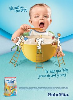 food campaign baby food ref Food Advertising, Creative Advertising, Advertising Design, Food Graphic Design, Food Poster Design, Milk Brands, Food Banner, Baby Posters, Ads Creative