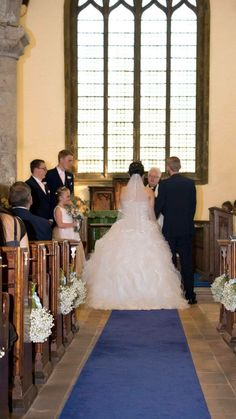 In St Lawrence's church having our wedding ceremony