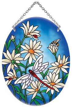 Daisies Stained Glass Suncatcher