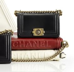 Chanel Bag Pile Up