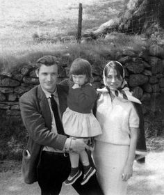 Ted Hughes with his mistress Assia Wevill and his daughter with Sylvia Plath, Frieda