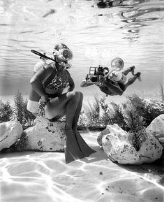 Diver and photographer at Cypress Gardens: Winter Haven, Florida, via Flickr.