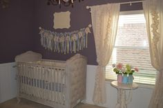 like the wall color and decoration above the crib