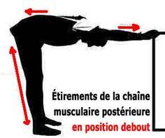 Exercice d'étirement debout contre le mal de dos
