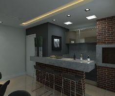 Loft em Joinville. Super moderno e prático! Churrasqueira decoração Lofts Joinville