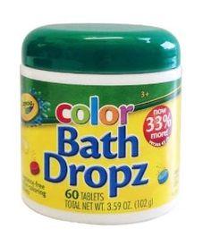 Crayola Bath Dropz 3.59 oz 60 Tablets -   - http://www.toyrange.com/toys-games/baby-toddler-toys/bath-toys/crayola-bath-dropz-359-oz-60-tablets-com/