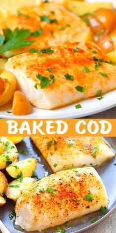 Salmon recipes 116249234120345857 - Easy baked cod with lemon, olive oil, salt and cayenne pepper. One of the best cod recipes baked in the oven. Moist, juicy with 5 mins prep time. Source by rasamalaysia Fish Dinner, Seafood Dinner, Seafood Appetizers, Fish Ideas For Dinner, Seafood Meals, Best Cod Recipes, Cod Filet Recipes, Cod Recipes Oven, Best Halibut Recipes