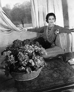 Cecil Beaton, Coco Chanel on a Sofa, 1938. © Condé Nast Archive/Corbis