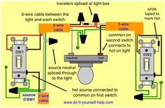 wiring recessed lights in series with threeway   Source at First Switch and Light Between