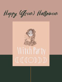 Graphisme Fete Halloween, Happy Halloween, Witch Party, Blog Deco, Green, Artwork, Witch Spell Book, Graphic Design, Work Of Art