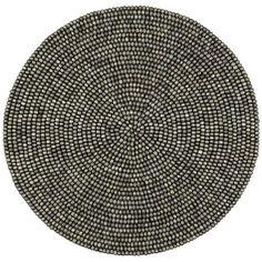 Rapee - Zim Round Placemat Coal | Peter's of Kensington