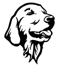 A computer cut Golden Retriever car decal. It is made from Oracal 651 Calendered Vinyl and has a 5 year outdoor life. The dimensions are 7.25 inches tall and 6 inches wide. Custom sizing is available upon request (be advised larger sizes will cost more). Some designs cant be made any