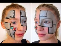 Robot facepaint ansigtsmaling
