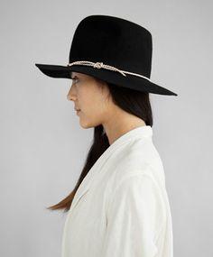 Black Short Brim Pinch Hat by Clyde