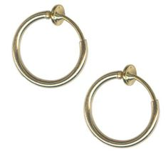 Pair of Medium Size 3/8 inch Gold Color Non-Pierced Hoops-Fake Lip Hoop-Fake Nose Hoops BodySparkle Body Jewelry. $4.99. Gold Color Plated Brass Hoop. Can be used for Fake Lip Rings, Fake Nose Rings, Fake Belly Rings, Fake Cartilage Hoops, Fake Tragus Piercing. Comfortable Fit Non Piercing Body Jewelry. Quality Guaranteed by BodySparkle. Medium Size good for lip hoops, nose hoops, belly rings, ear lobe, ear cartilage, tragus