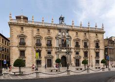 Palacio de la Real Chancillería de Carlos V, Granada, España, (pureza decorativa de línea clásica italiana)