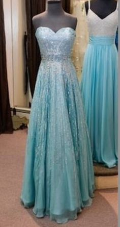 blue dress elsa frozen prom dress winter dress prom dress