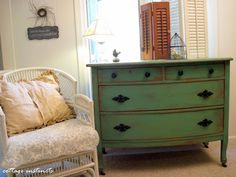 How to make a dresser look as old and beat up as possible.