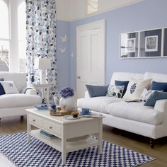 living rooms, living room ideas, new bedroom, beach houses, draw room, blue lounge room, live room