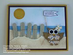 Owl Beach Card
