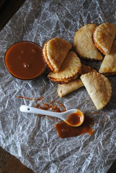 empanadas de cajeta.  I am going to try these with dulce de leche instead of cajeta.  The dough uses cream cheese.