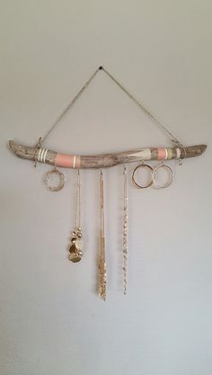 Driftwood Jewelry Organizer Hanging Jewelry Display Aztec