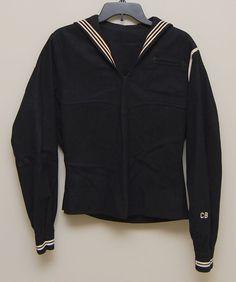 1940s WW2 US Navy wool uniform shirt / jumper Naval by LivedIn