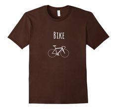 Men's Bike Shirt, Cyclist Tee, Bicycle Shirt Shape, Road Bike 2XL Brown