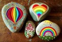 Image result for food painted on rocks