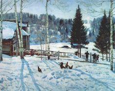 yuon end of winter (midday) 1929. Константин Юон