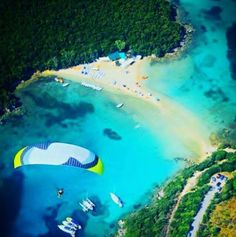 Sivota from the air Greece Tourism, Greece Travel, Travel Pictures, Travel Photos, Places In Greece, Local Attractions, Exotic Places, Greek Islands, Beautiful Beaches