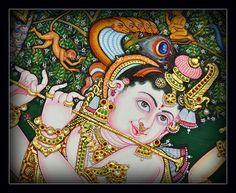 Venugopala - Tanjore Painting