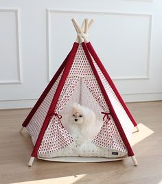 Red flower dog house teepee tent pet indian tent by goodhapy, $90.00