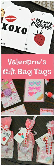 Valentines Gift Bag Ideas #valentinesday #gift #tags #printables via @OCRaquel