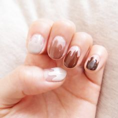 melted chocolate nails
