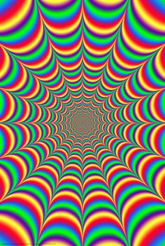 Studio B Fractal Illusion Poster: Beautiful color psychedelic style poster featuring a optical illusion that is sure to make your head spin. This poster is suitable for framing. Eye Illusions, Cool Optical Illusions, Art Optical, Hippie Wallpaper, Trippy Wallpaper, Retro Wallpaper, Optical Illusion Wallpaper, Optical Illusion Art, Art Fractal